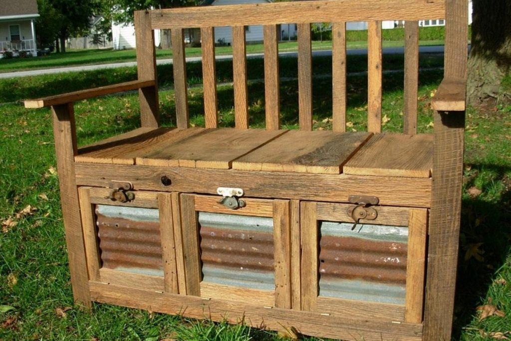 DIY Outdoor Storage Benches Ideas